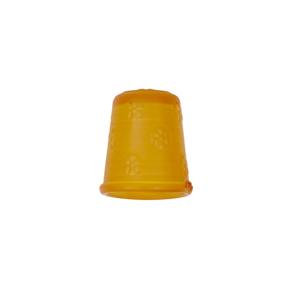 "Dill Rubberized Thimble 11/16"" Yellow"