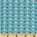 Catalina Flannel Mini Flowers Blue