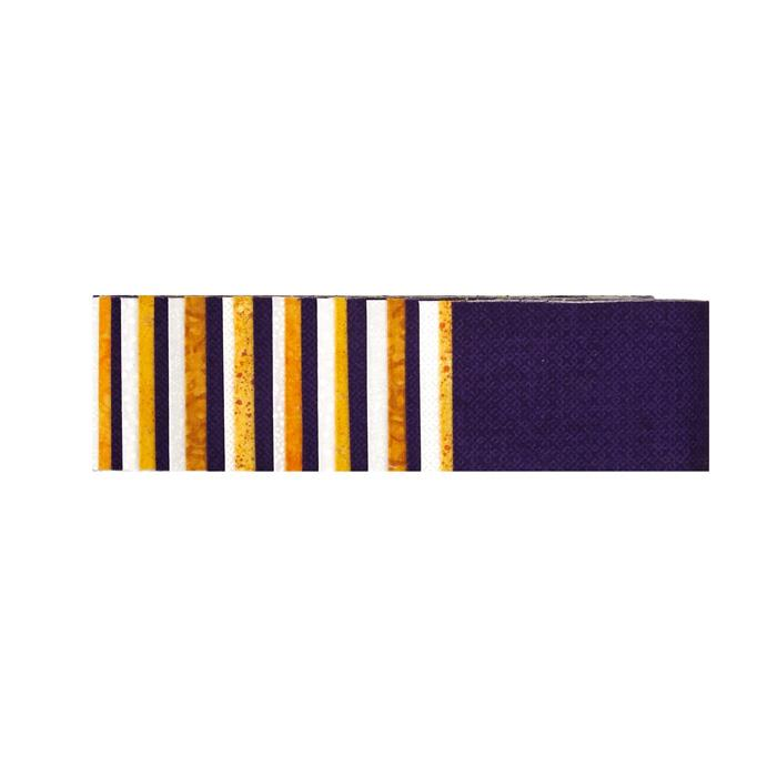 "#1 Fan Essential Gems 2.5"" Strips Purple/Gold/White"
