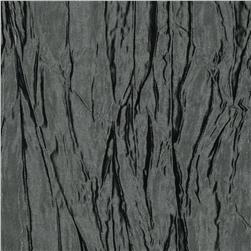 Crushed Taffeta Iridescent Charcoal Fabric