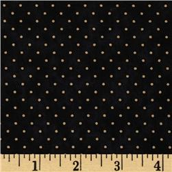 Moda Essential Dots (# 8654-28) Black Fabric
