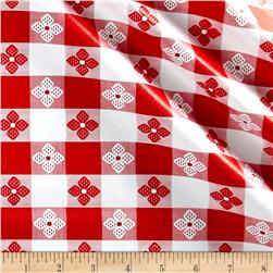 Tavern Check Flannel Backed Vinyl Red/White Classic Tablecloth