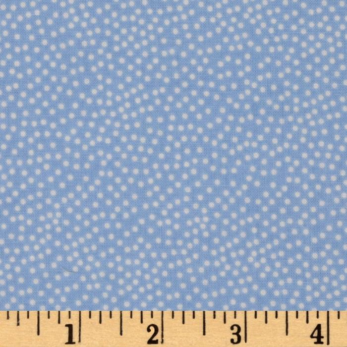 Michael Miller Garden Pindot Cloud Blue/White