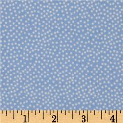 Michael Miller Garden Pindot Cloud Blue/White Fabric