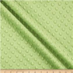 Minky Cuddle Dimple Dot Dark Lime Fabric