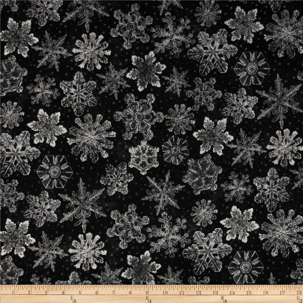 Holiday Accents Classics 2013 Metallic Large Snowflake Black