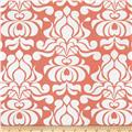 Riley Blake Valencia Laminated Cotton Damask Coral