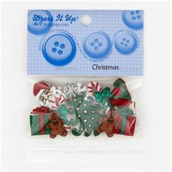Dress It Up Embellisment Buttons  Mm Christmas