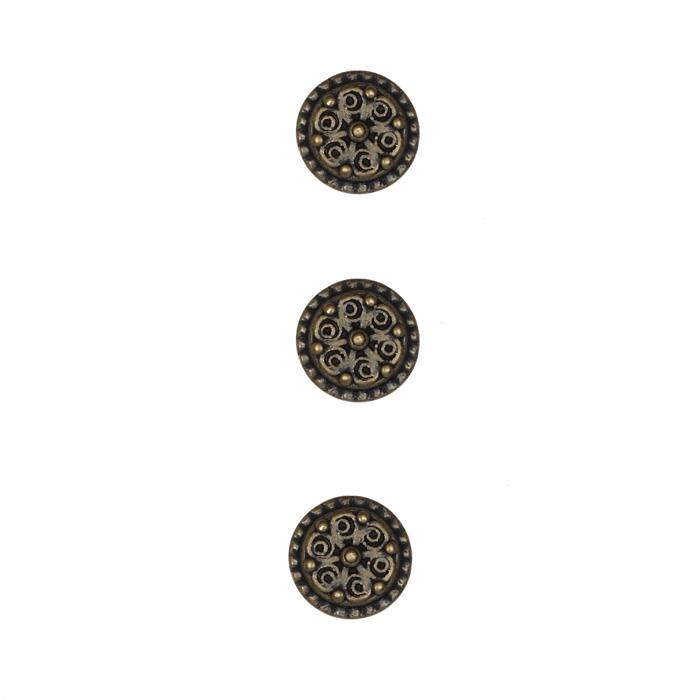 Metal Button 1/2'' Petite Botton Brass