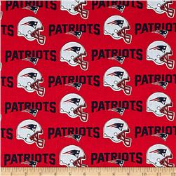 NFL Cotton Broadcloth New England Patriots Red/Navy