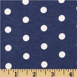 Dakota Jersey Knit Dots Marine Blue/ Powder White