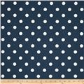 Premier Prints Polka Dot Twill Premier Navy/White