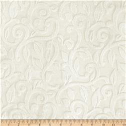 Minky Vine Cuddle Ivory Fabric