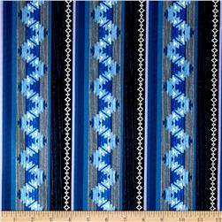 Moose Creek Lake Blanket Stripe Navy
