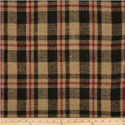 60'' Sultana Burlap Plaid Red/Black Fabric