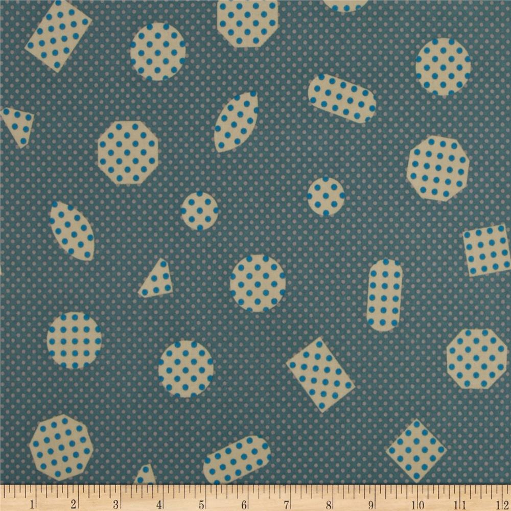Cotton & Steel Cookie Book Non-Pareils Lawn Teal