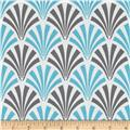 Design Studio Deco Fans Blue/Gray