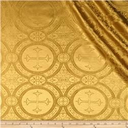 Clergy Brocade Mustard Fabric