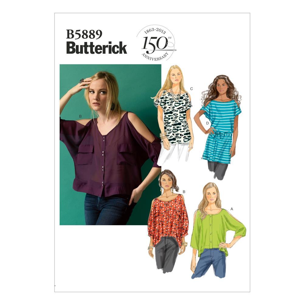 Butterick Misses' Top, Tunic and Belt Pattern B5889 Size 0Y0