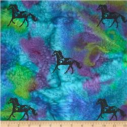 Indian Batik Animal Planet Horse Purple/Green