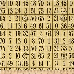 Sew Scary Number Grid Light Gold
