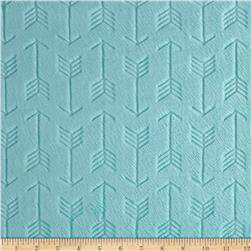 Shannon Minky Embossed Arrow Cuddle Saltwater