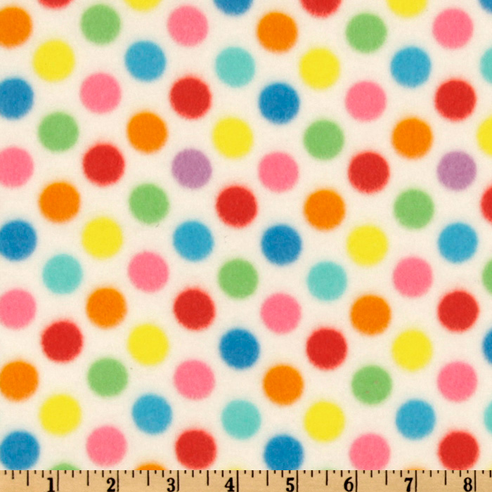 WinterFleece Medium Dot White/Multi Fabric