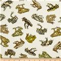 Kanvas Tropic Rainforest Amazon Frogs Cream