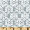 Winter's Kiss Victorian Snowflakes Metallic Grey