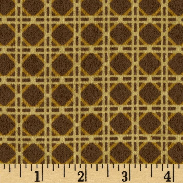 Northern Exposure Flannel Cane Yellow/Light Brown
