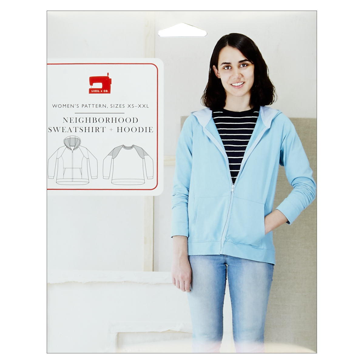 INOpets.com Anything for Pets Parents & Their Pets Liesl + Co. Neighborhood Sweatshirt + Hoodie Sewing Pattern