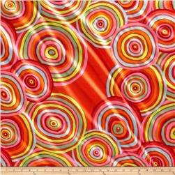 "Kaffe Fassett 108"" Wide Quilt Back Sateen Circles Red"