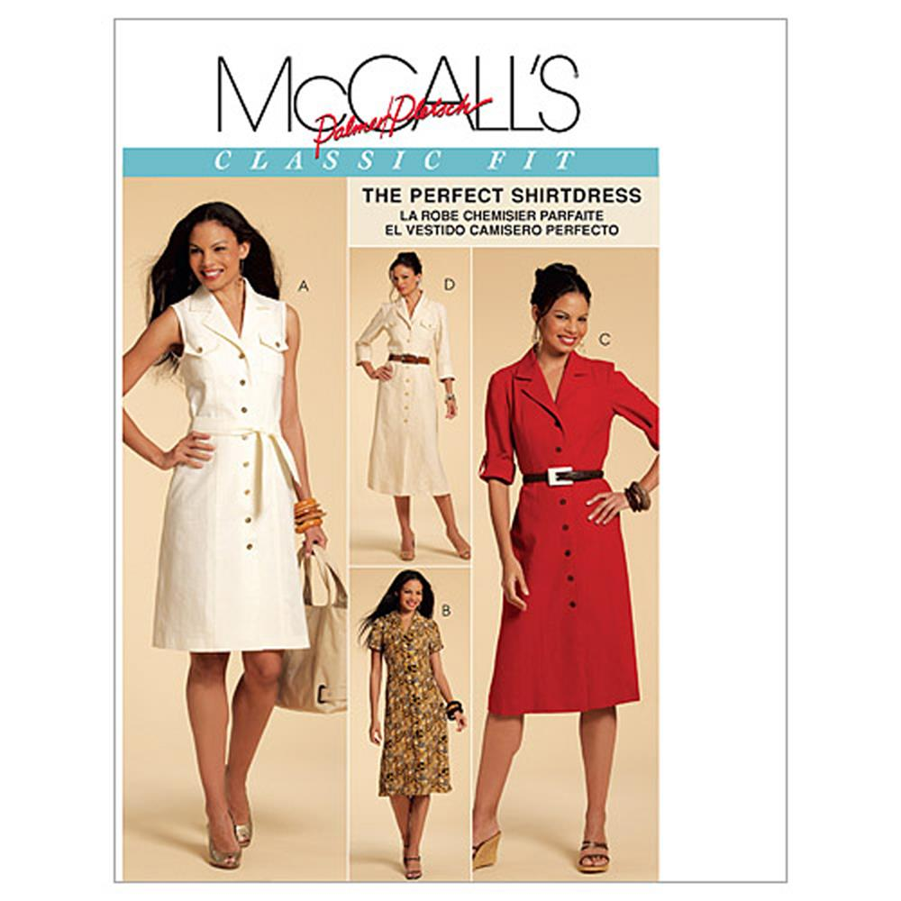 McCall's Misses' Shirtdresses In 3 Lengths and Sash Pattern M5847 Size AA0