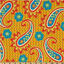 Pop Paisley Large Paisley Gold