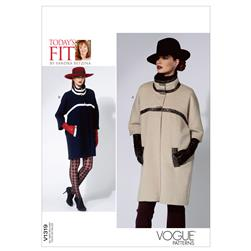 Vogue Misses' Coat Pattern V1319 Size OSZ
