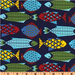 Hoodie's Collection Fish Fiesta Navy