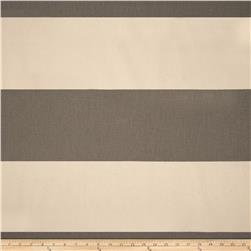Premier Prints Cabana Stripe Natural/Dark Grey Fabric