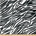 Fleece Print Small Zebra Black/White