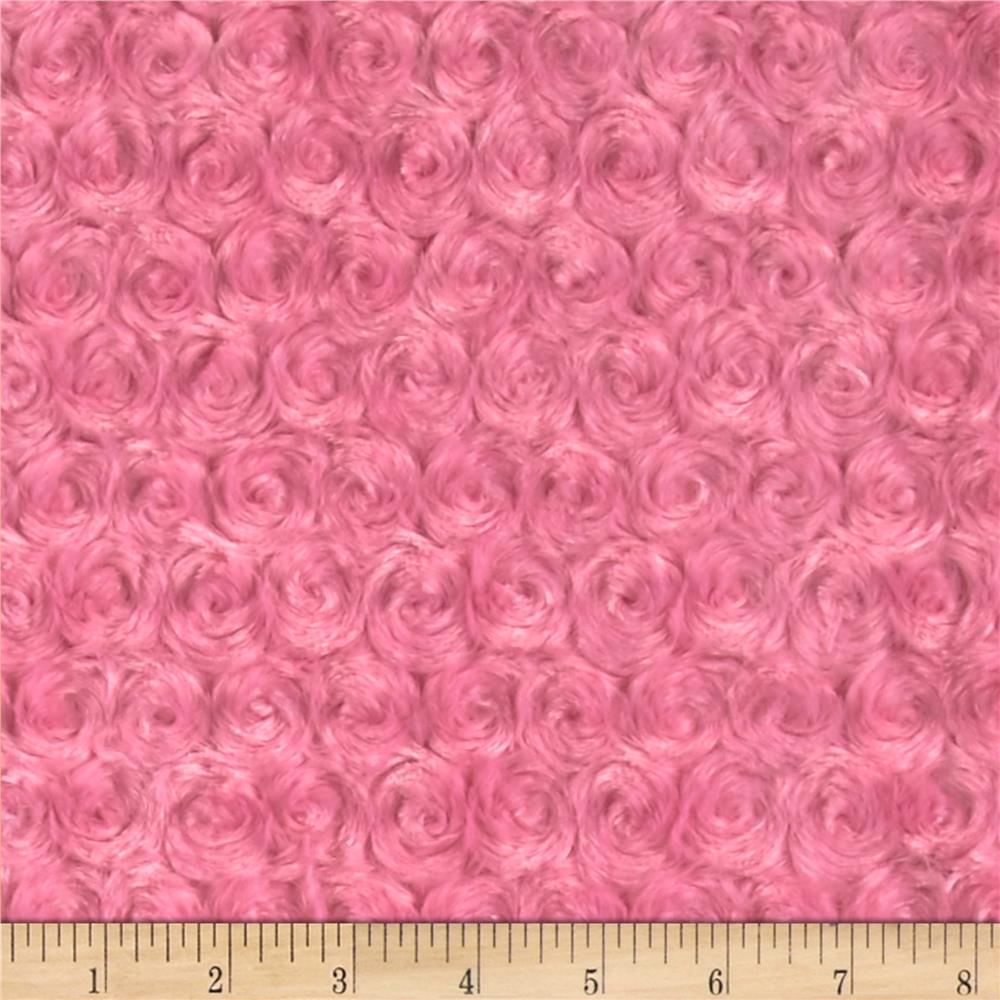 Shannon Minky Rose Cuddle Hot Pink