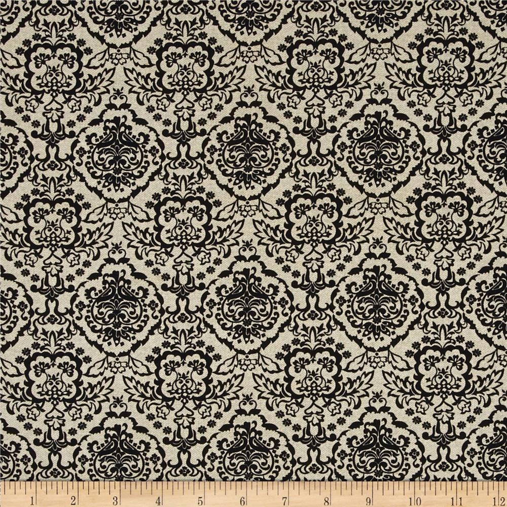 Calavera Damask Cream/Black