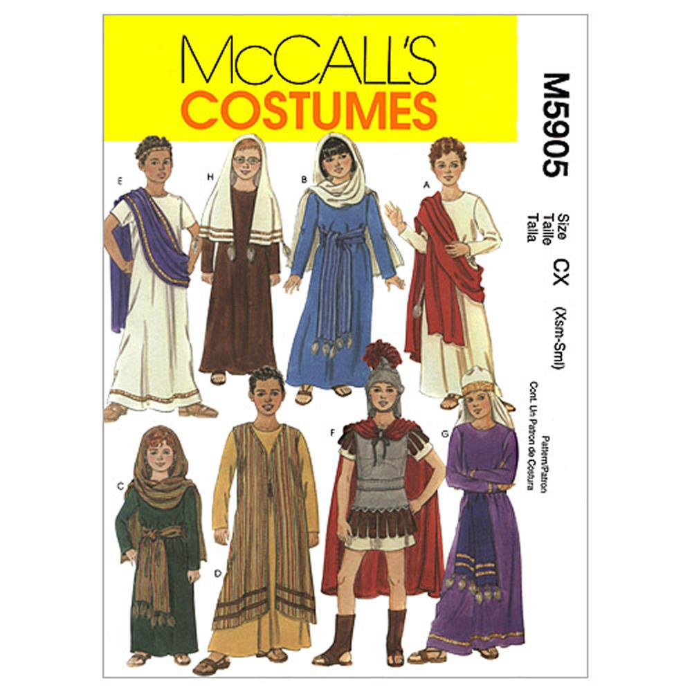McCall's Children's/Boys'/Girls' Biblical Costumes Pattern M5905 Size CX0