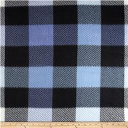 Fleece Print Squares Blue