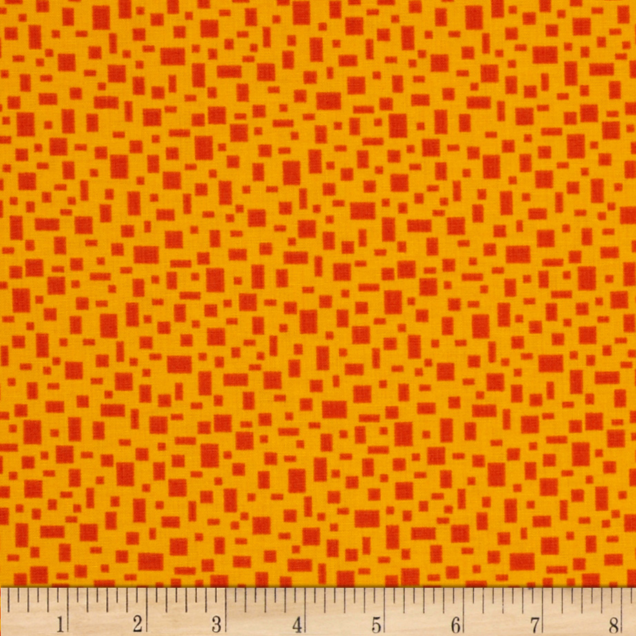 In Plain Sight Geometric Orange/Red Fabric
