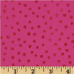 All That Glitters Polka Dot Fuchsia