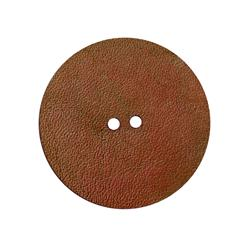 2'' Leather Button Round Cherry