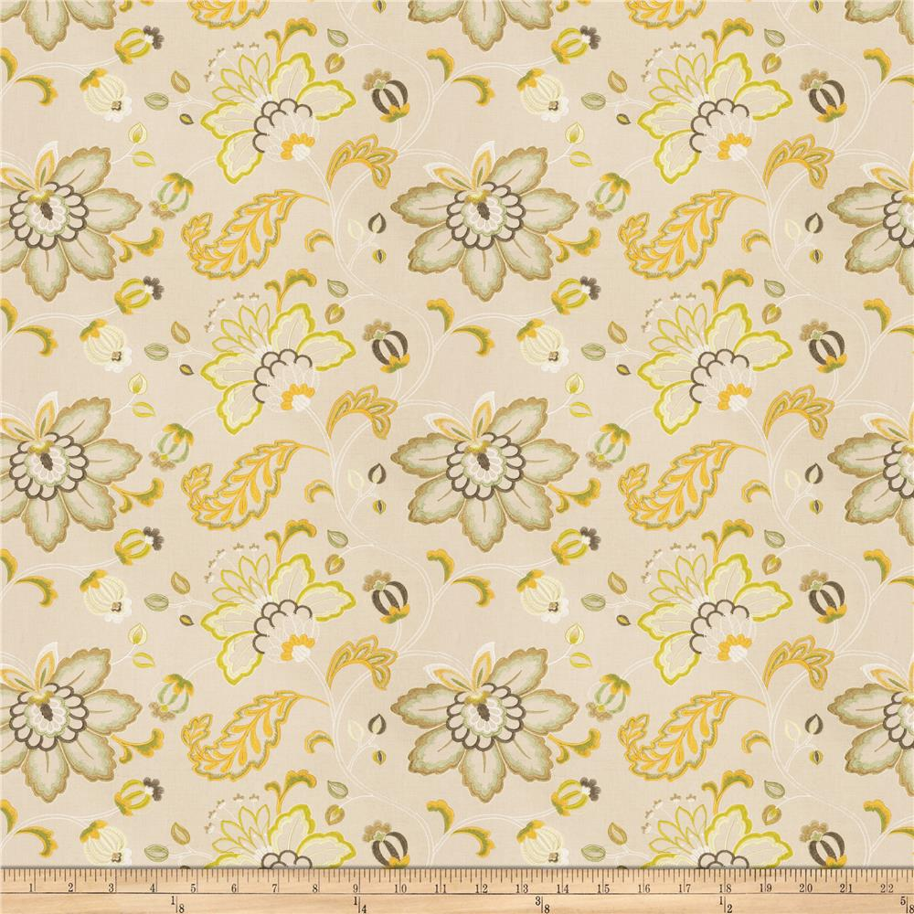 Fabricut Bettino Floral Embroidered Linen Blend Citrus