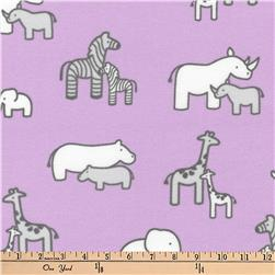 Kaufman Little Safari Flannel Collage Lavender