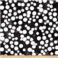 "Kaufman Black & White 108"" Wide Big Dots Charcoal"