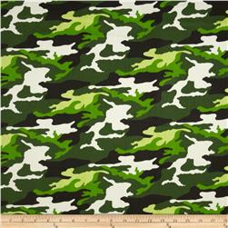 Textile Creations Camouflage Twill Green/Black