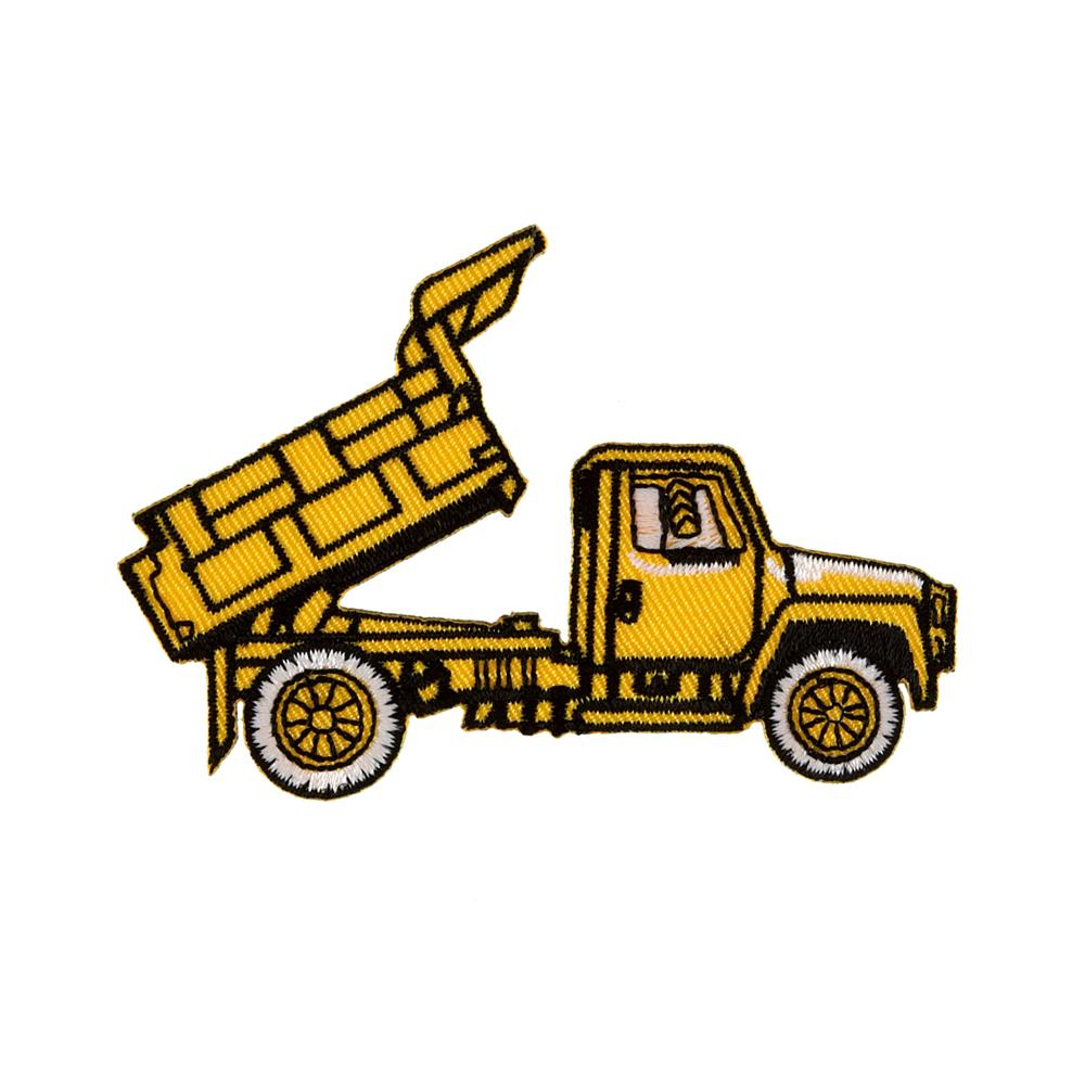 Dump Truck Applique Yellow
